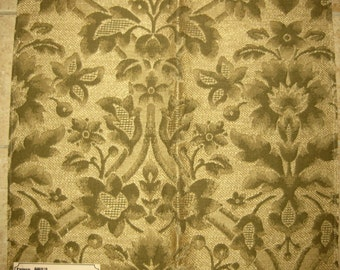 Green Embossed Floral Tapestry Upholstery Designer Fabric Sample