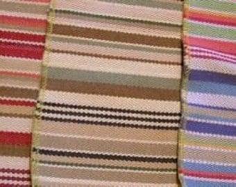 3 pc Multi Stripe Denim Twill Breezeway Designer Fabric Sample LOT