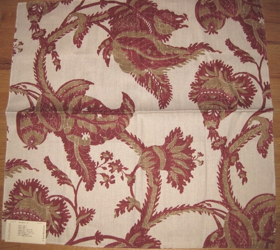 Jacobean Exotic Fruit Batik Lee Jofa Designer Fabric Sample Baker