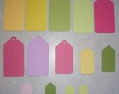 14 Bright Cardstock Tags