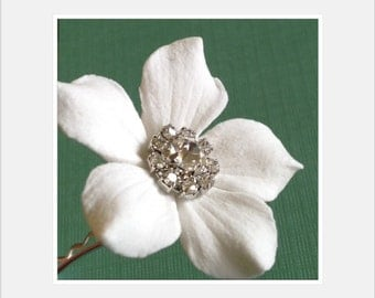 Larger Size Stephanotis made of Clay - with Jeweled Center