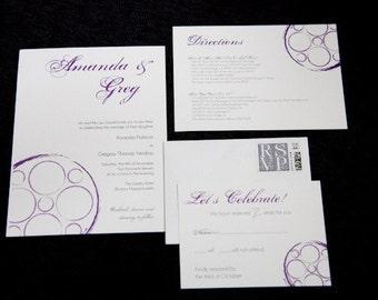 Custom Wedding Invitation Design - As Seen on Style Me Pretty