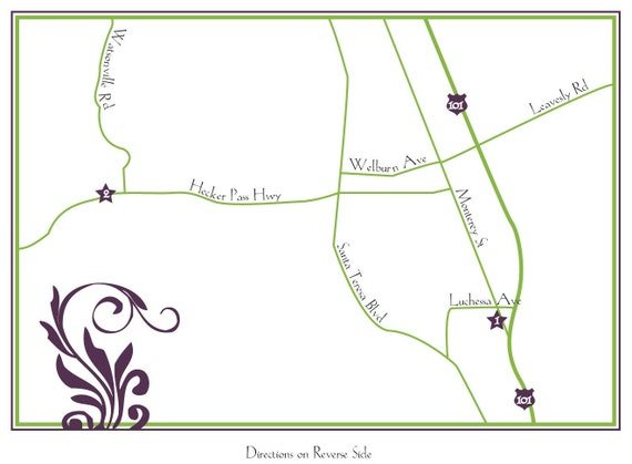 Wedding Event Map Design 1 Sided