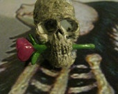 Skull Pendant - with rose