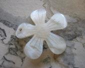 White Shell Flower Pendant, Columbine Flower Pendant