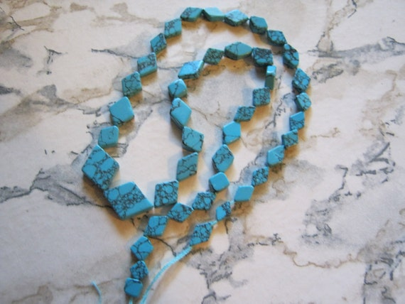 Diamond Shape Turquoiose Beads
