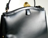 Vintage Black Leather Purse - Coblentz Handbag