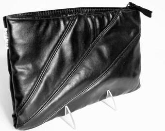 Vintage 1980's Black Clutch Purse