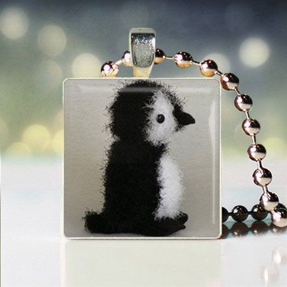 "Christina Perri inspired ""Penguin"" Scrabble Tile Pendant"