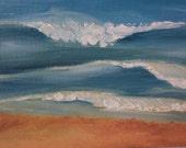 Rolling Waves at Myrtle Beach South Carolina - Original Oil Painting 8x10