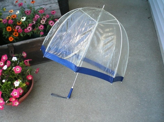 Vintage Clear Dome Umbrella