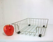 SALE- Vintage Wire Basket Tray