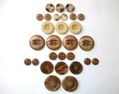 SALE- Caramel Macchiato Vintage Buttons