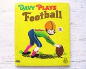 Vintage 1960's Children's Book- Davy Plays Football