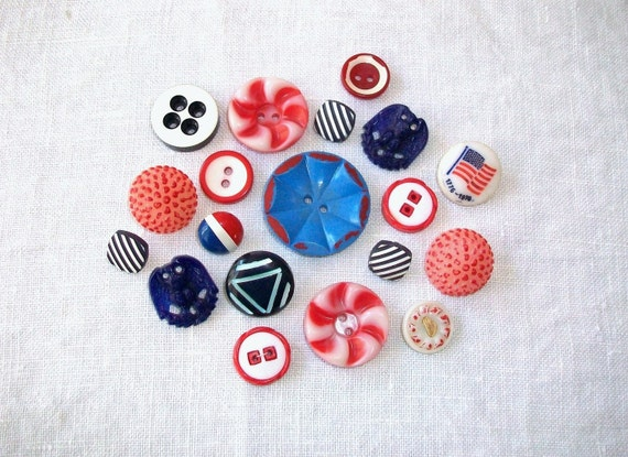 SALE- Born In The USA Vintage Buttons