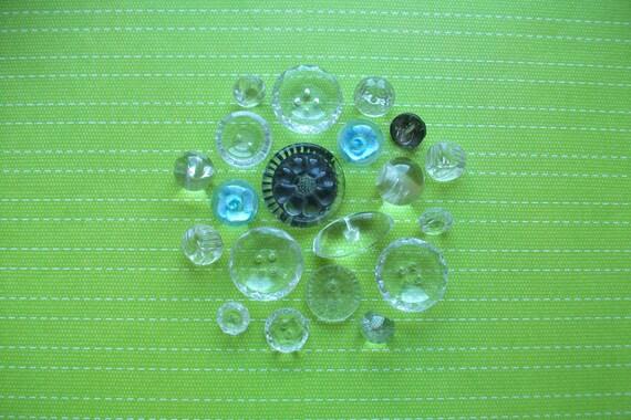 Antique Glass Buttons