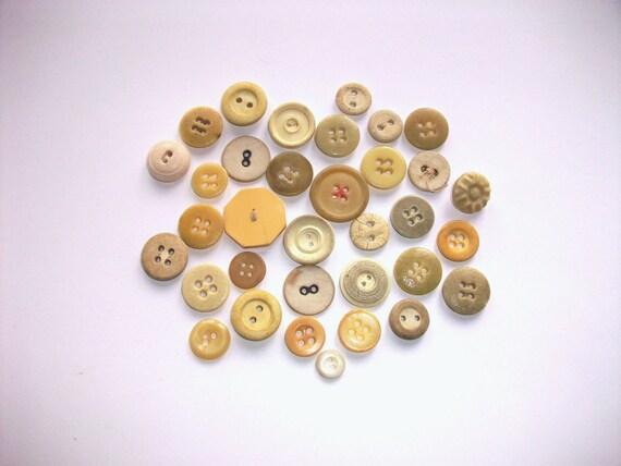 Vintage Ivory Farmhouse Buttons