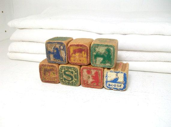 Antique Picture Blocks