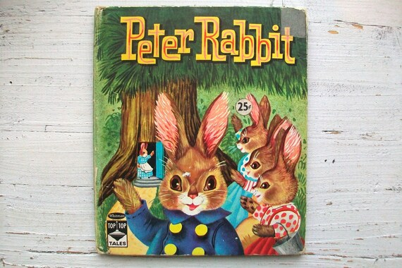 Vintage 1960's Children's Book- Peter Rabbit