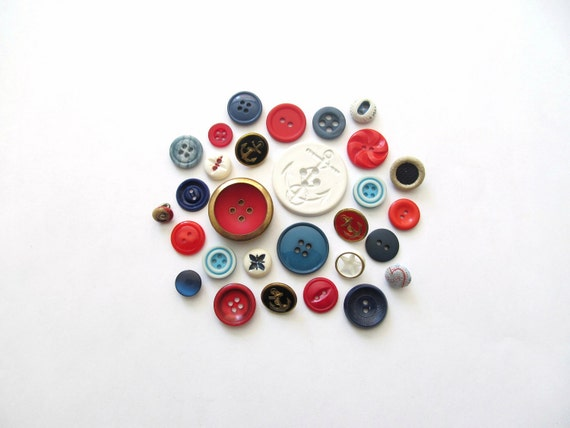 RESERVED for Katrine- Born In The USA Vintage Buttons