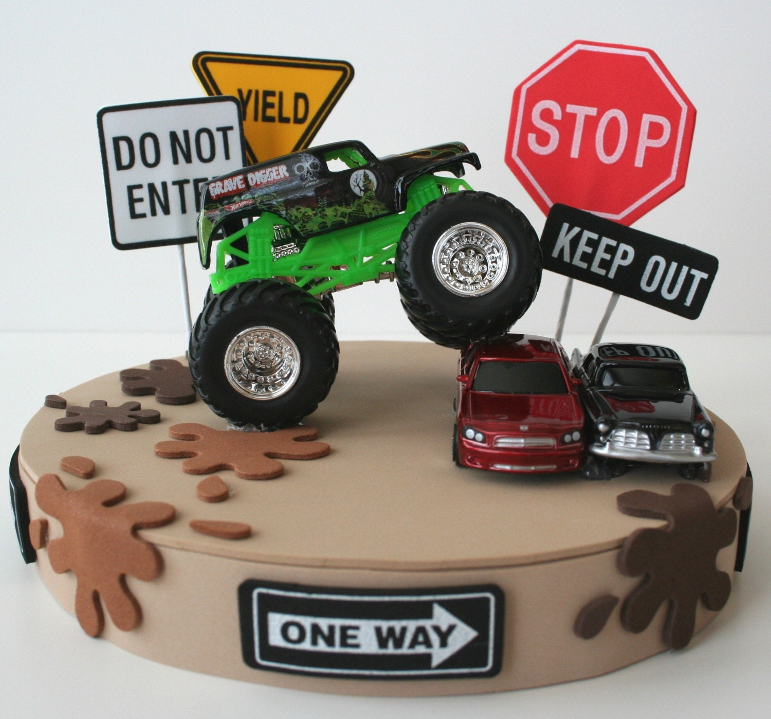 Monster Truck Birthday Cake Top Topper Personalize It
