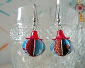 Eco Chic Earrings Turquoise and Red