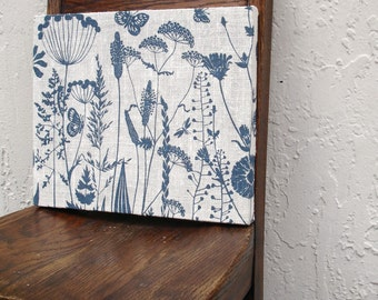 Floral Wall Hanging Repurposed Blue & White Placemat