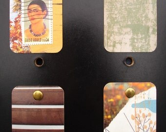 Mini Wall Art - Set of 4 Frida Kahlo natural rustic warm colors