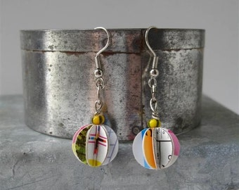 Repurposed Paper Earrings