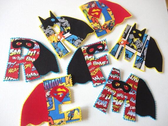 1 Six Inch Superhero Iron On