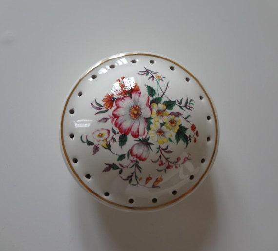 Vintage English Floral Pomander for Potpourri or Lavender from EnglishPreserves