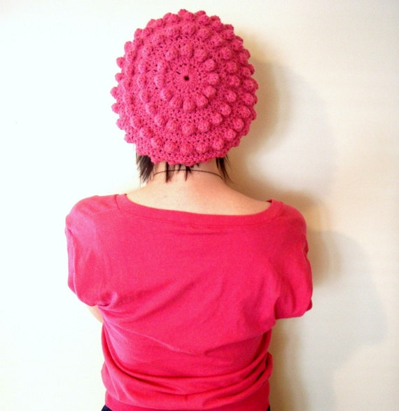 Softspoken Bubble Beret in Pink