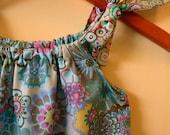 New DIY Childrens Dress Kit... asian blue parisian... DIY Kit... Size XS