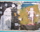 The Mother of Everything with Big Daddy-outsider art on newsprint