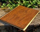 Reserved for Nora-Hand Painted Journal or Sketchbook-Faux Wood-Medium