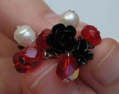 Black Rose Cluster Ring with Gift Box