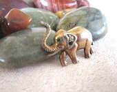 Antique 835 GOLD Elephant Lapel Pin
