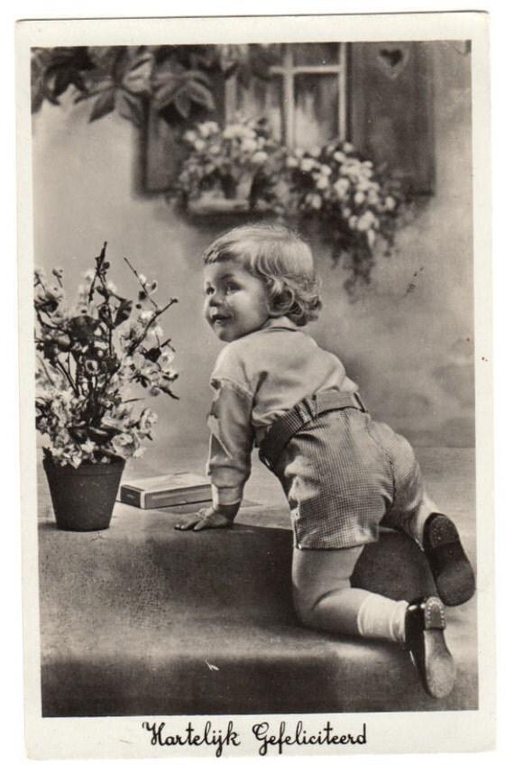 Original RPPC Postcard - LIttle Dutch Boy - 1936 from Netherlands