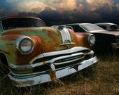 Classic Car Photo - Pontiac with Cumulus Clouds - Office Art