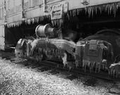 Icy Train Wheels - Fine Art Photograph