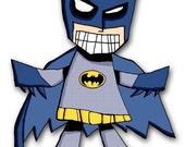 Batman Super Hero 5x7 Art Print Drawing
