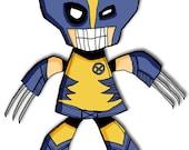 Wolverine Super Hero 5x7 Art Print X-Men