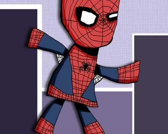 Super Hero Spiderman Art Print