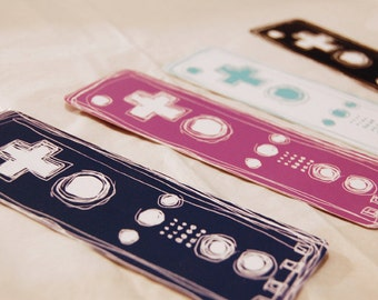 Nintendo Wii Wiimote Video Game Art Bookmark Set