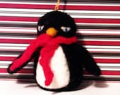 Set of 3  Needle Felted Wool Penguin Ornaments