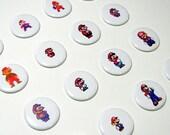 The Evolution of Mario Button Set