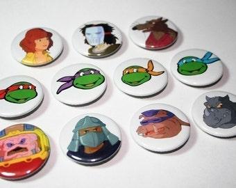 Teenage Mutant Ninja Turtles Original Series Button Set