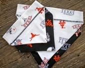 Dog Bandanna -- UT Longhorns cotton print -- Reversable