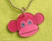 Monkey Head Plastic Pendant