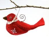 Felt Bird Christmas Ornament Pattern PDF